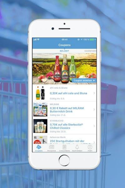 COUPIES-App mit Cashback-Aktionen