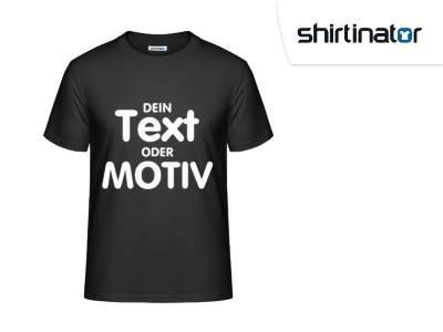 Gestalte jetzt ein T-Shirt ganz nach deiner Vorstellung mit Shirtinator.