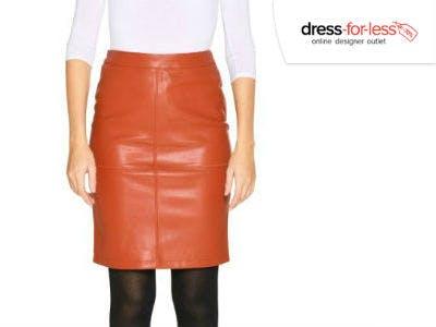 Vila Vipen New Skirt in Rot bei dress-for-less