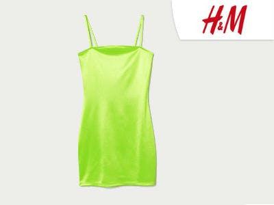 Kurzes Kleid in Neon bei H&M
