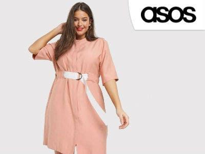 Lässiges Kleid mit kontrastierender Gürtelschnalle bei ASOS