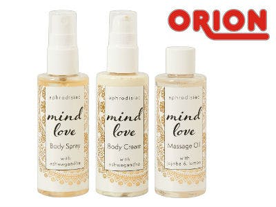 "3-teiliges Set ""Mind Love"", Öl, Spray und Cream"