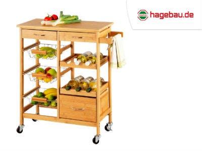 Praktischer Küchenrollwagen bei hagebau.de