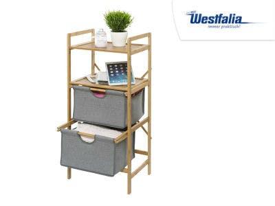 Wenko Wäscheregal aus Bambus mit 2 Schubladen bei Westfalia