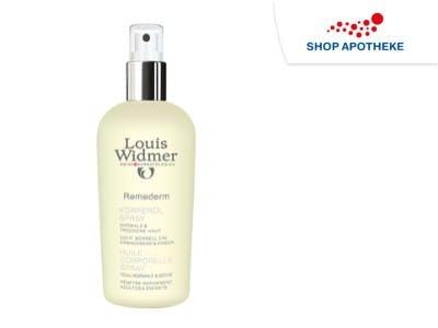 Remederm Körperöl Spray pflegt deinen Körper nach dem Bad.