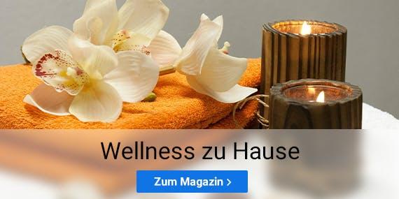 Tipps zur Wellnessoase zu Hause findest du im SPARWELT Magazin.