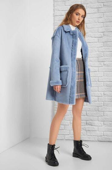 Perfekt für den Herbst: Fellimitat-Jacke