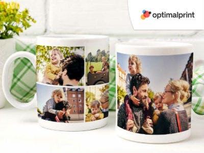 Fototasse mit eigenem Foto ab 13,90€ bei Optimalprint