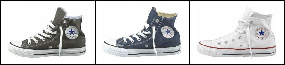 Sneaker-Klassiker Converse! Wer sie nicht hat, ist kein Sneaker-Fan.