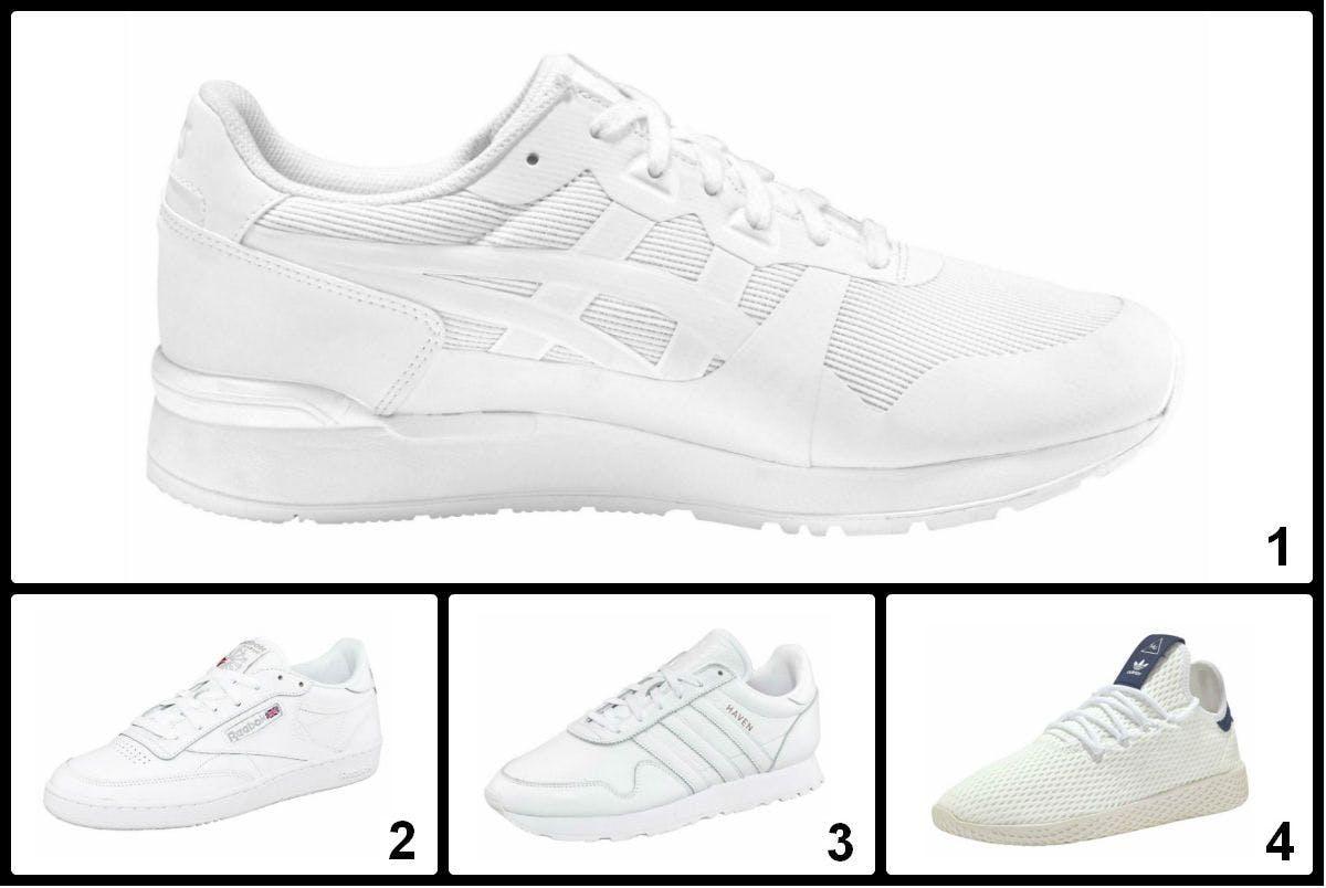 Nur für ganz Saubere: Megatrend weiße Sneaker.