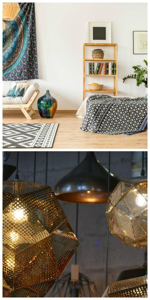 Materialien und Möbel für den Ethno Stil