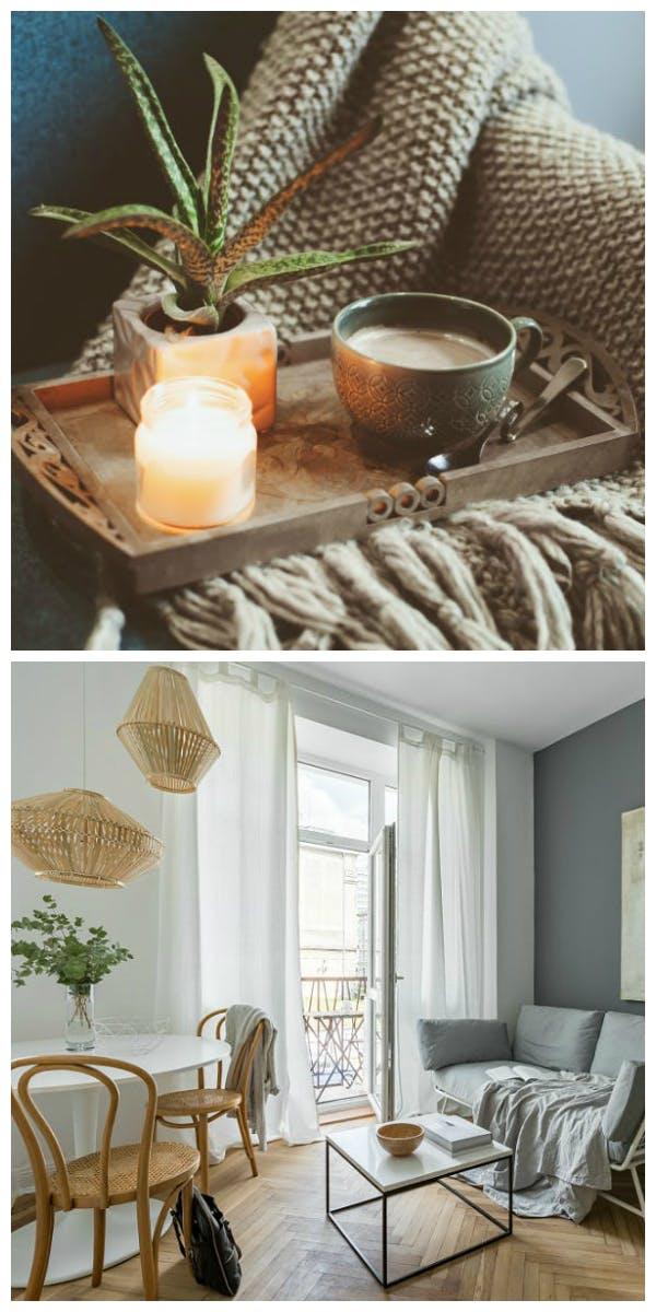 Materialien und Möbel für den Hygge Style