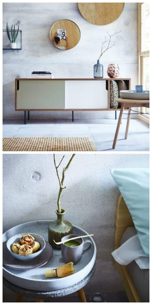 Materialien und Möbel für den Stil Lagom