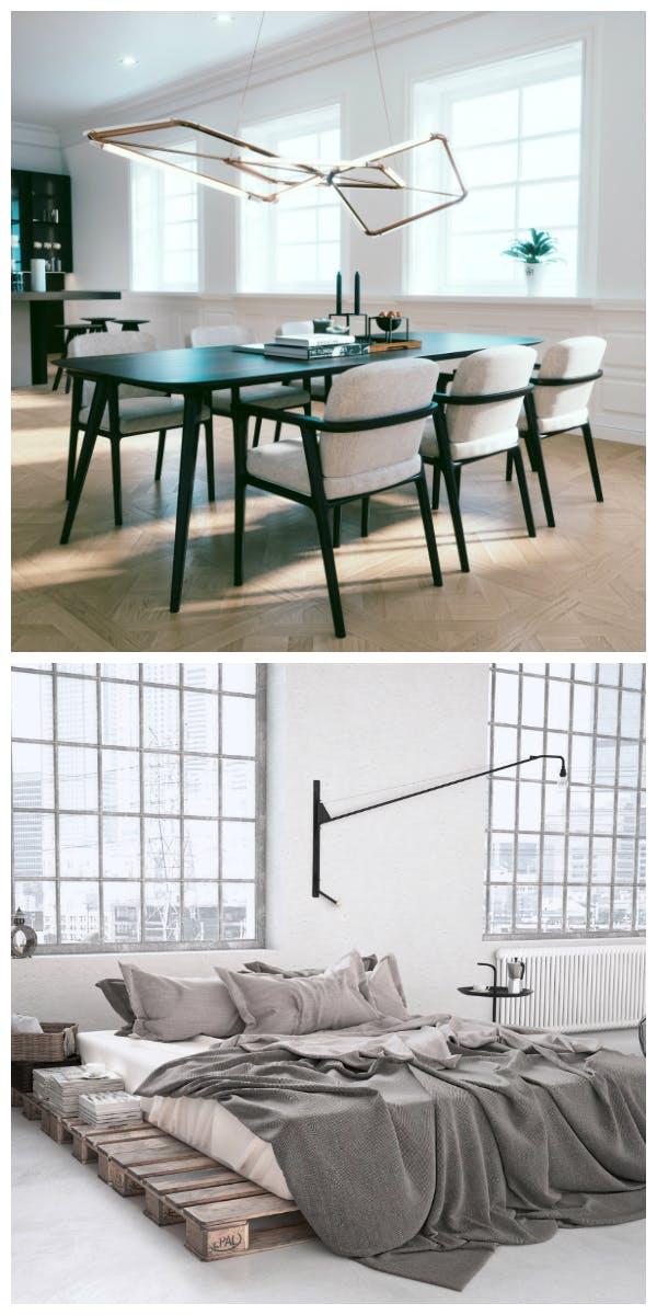 Materialien und Möbel für den Puristischen Stil