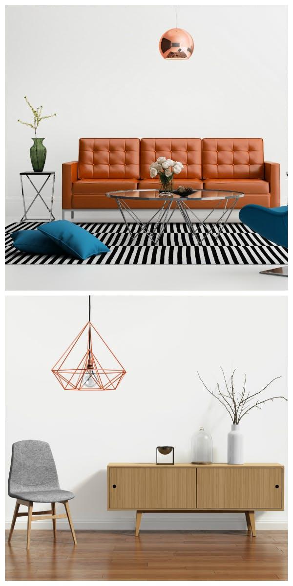 Materialien und Möbel für den Retro Stil