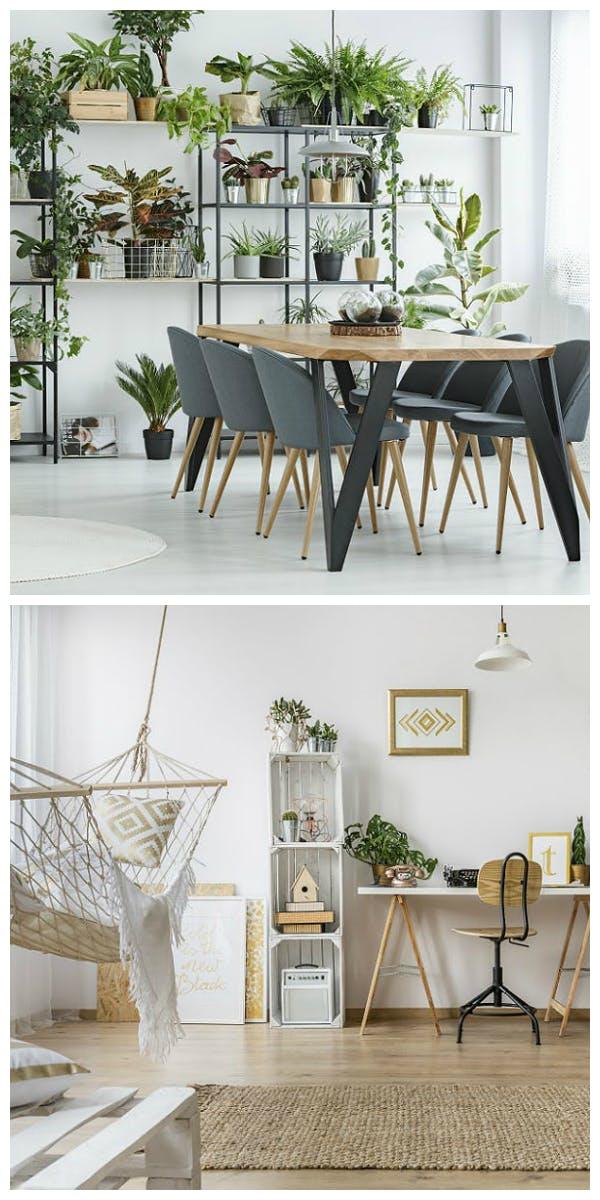 Materialien und Möbel für den Urban Jungle