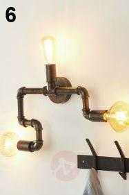 Wandlampen im Wasserrohr-Look sind DER Hingucker schlechthin.