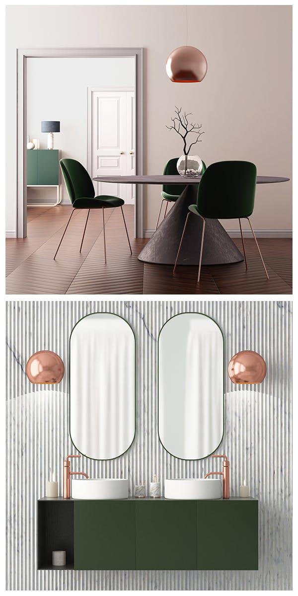 Möbel und Dekorationen im Art-déco-Stil