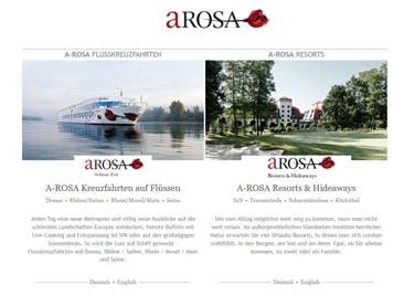 Startseite von A-Rosa