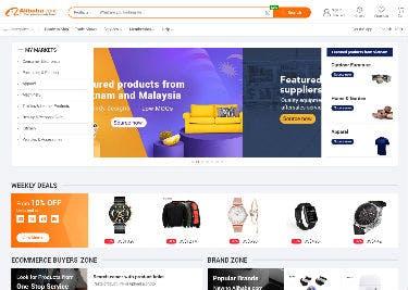 Alibaba-Startseite