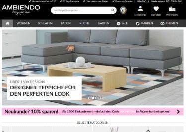 Startseite von AMBIENDO