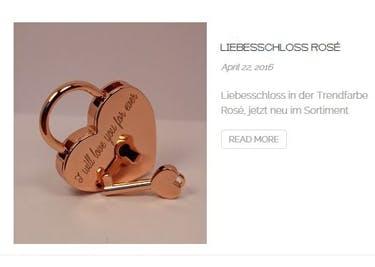 Auch ein Liebesschloss in der Trendfarbe Rose-Gold wird mit einem Gutschein günstiger