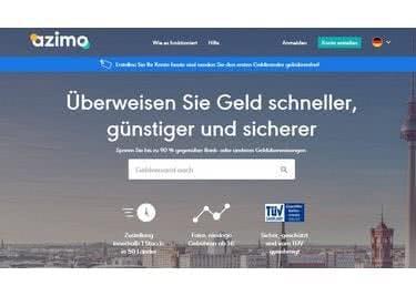 Alle Informationen zu eurem Geldtransfer auf der Azimo Startseite