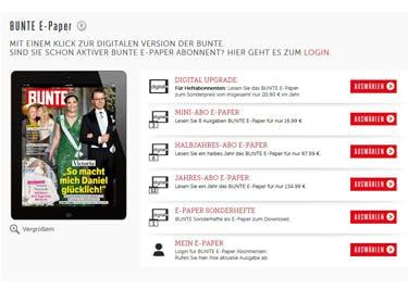 Das BUNTE Magazin eröffnet dir die ganze Welt rund um Promis, Royals, Lifestyle und Co.