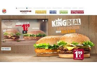 Leckere Deals für Chicken, Beef und mehr bei Burger King