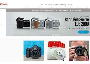 Der Onlineshop von Canon