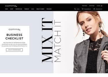 Mode bestellst du im comma-Onlineshop mit Gutschein günstiger