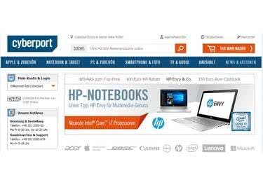 Cyberport Startseite