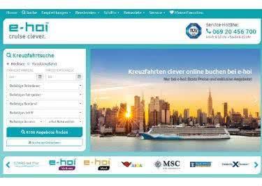 Die Homepage von e-hoi bietet zahlreiche Informationen zu Kreuzfahrten