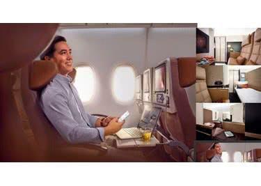 Bei Etihad Airways genießt du ein luxeriöses Flugvergnügen über den Wolken