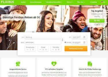 FlixBus Startseite