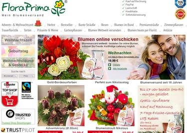 Setze einen FloraPrima-Gutschein ein, um günstige Sträuße zu bestellen