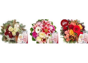 Mache einem lieben Mensch eine Freude und bestelle bunte Blüten und Pralinen