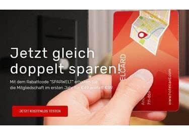 Die nächste Reise wartet bereits auf euch. Sparen könnt ihr dabei mit der Hotelcard.