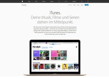 iTunes Startseite