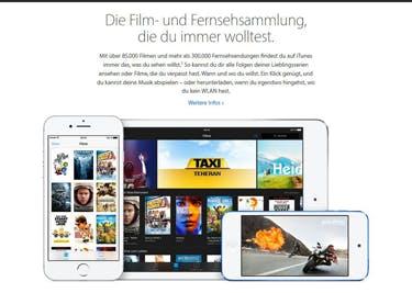 Auch Filme und Serien werden mit einem iTunes-Gutschein günstiger