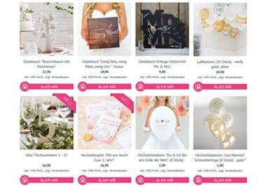 Alles, was du für deine Hochzeit brauchst, wird mit einem Gutschein für den Ja-Hochzeitsshop günstiger