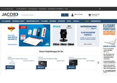 Shoppe mit einem Gutschein für Jacob Elektronik zum günstigen Preis