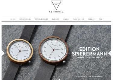 Mit einem KERBHOLZ-Gutschein bestellst du die schicken Uhren zu einem günstigeren Preis
