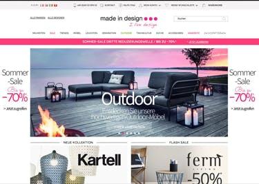 Mit einem Made-In-Design-Gutschein werden Möbel, Wohnaccessoires und Co. besonders günstig