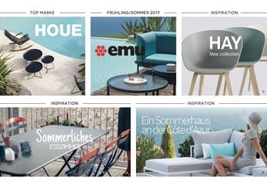 Auch Möbel für Garten und Balkon werden mit einem Gutschein für Made In Design zu einem echten Schnäppchen