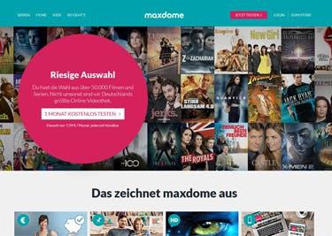 Bei Maxdome warten hunderte Filme zum streamen auf euch.