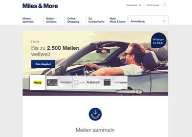 Miles & More Startseite