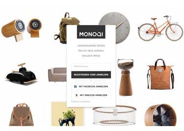 Registriere dich kostenlos bei MONOQI und shoppe außergewöhnliche Möbelstücke