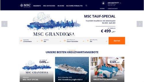 Gutscheine für MSC Cruises findest du hier