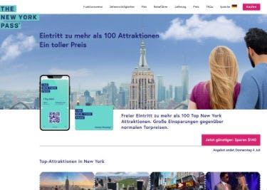 Startseite von New York Pass